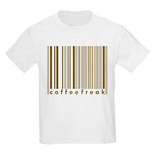 Coffee Freak Brown Caffeine Addict Kids T-Shirt