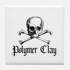 Poymer Clay - Skull & Crossbo Tile Coaster