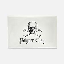 Poymer Clay - Skull & Crossbo Rectangle Magnet