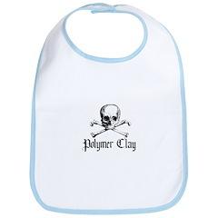 Poymer Clay - Skull & Crossbo Bib