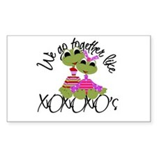 Frog Love Rectangle Decal