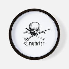 Crocheter - Skull & Crossbone Wall Clock