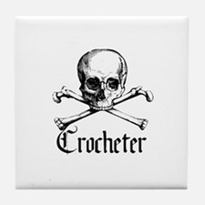 Crocheter - Skull & Crossbone Tile Coaster