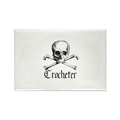 Crocheter - Skull & Crossbone Rectangle Magnet (10