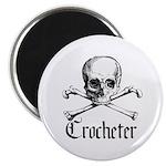 Crocheter - Skull & Crossbone Magnet