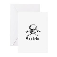 Crocheter - Skull & Crossbone Greeting Cards (Pk o