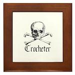 Crocheter - Skull & Crossbone Framed Tile