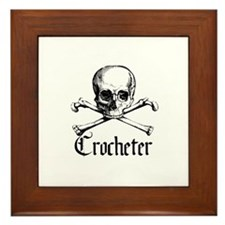 Crocheter - Skull & Crossbone Framed Tile
