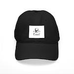 Crocheter - Skull & Crossbone Black Cap