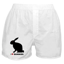 I Love Bunnies Boxer Shorts