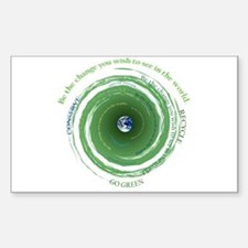 Be the Change - Recycle Rectangle Decal