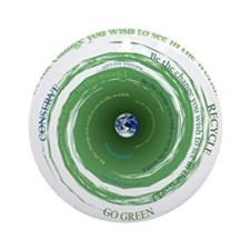 Be the Change - Recycle Ornament (Round)
