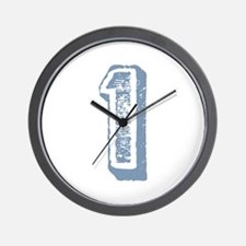 Blue Number 1 Birthday Wall Clock