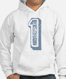 Blue Number 1 Birthday Jumper Hoody