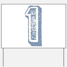 Blue Number 1 Birthday Yard Sign