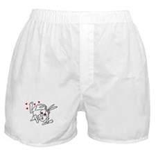 Hand Sketched Rabbits Boxer Shorts