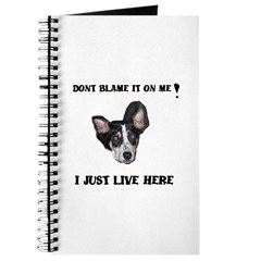 DONT BLAME ME , I JUST LIVE HERE Journal