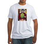 Alien Abduction Cat Fitted T-Shirt
