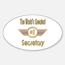 Number 1 Secretary Oval Decal