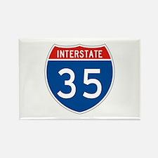 Interstate 35, USA Rectangle Magnet