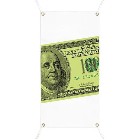 Hundred Dollar Bill Banner