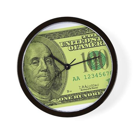 Hundred Dollar Bill Wall Clock