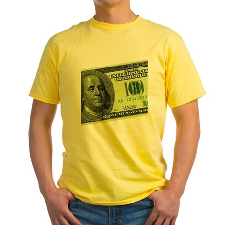 Hundred Dollar Bill Yellow T-Shirt