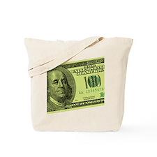 Hundred Dollar Bill Tote Bag