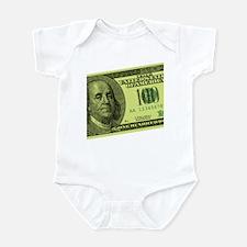 Hundred Dollar Bill Infant Bodysuit