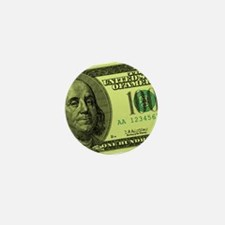 Hundred Dollar Bill Mini Button