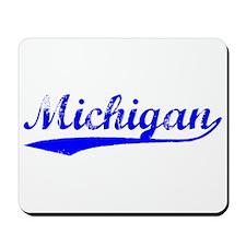 Vintage Michigan (Blue) Mousepad