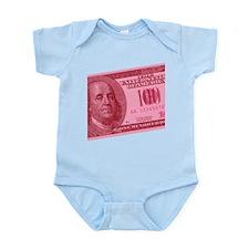 Pink Hundred Dollar Bill Infant Bodysuit
