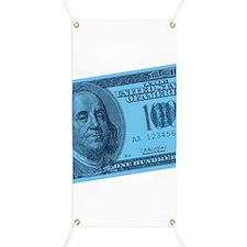Blue Hundred Dollar Bill Banner
