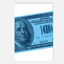 Blue Hundred Dollar Bill Postcards (Package of 8)
