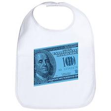 Blue Hundred Dollar Bill Bib
