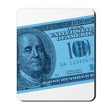 Blue Hundred Dollar Bill Mousepad