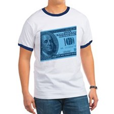 Blue Hundred Dollar Bill T
