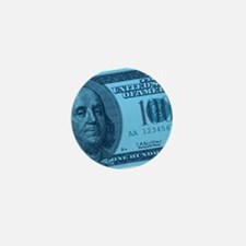 Blue Hundred Dollar Bill Mini Button