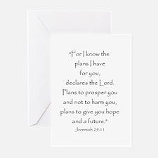 Jeremiah 29:11 Greeting Cards
