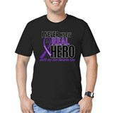 Cystic fibrosis son Fitted T-shirts (Dark)