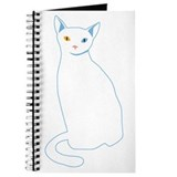 Khao manee cat Journals & Spiral Notebooks