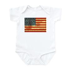 Flag with Hundred Dollar Bill Infant Bodysuit
