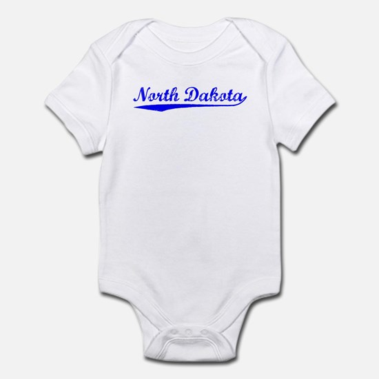 Vintage North Dakota (Blue) Infant Bodysuit