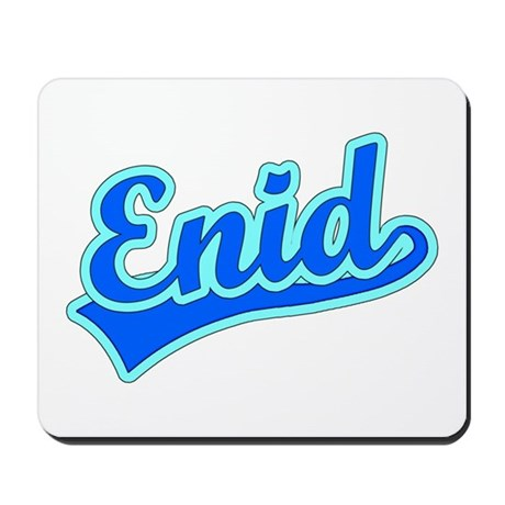 Retro Enid (Blue) Mousepad