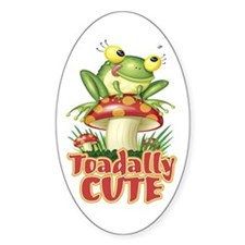 Toadally Cute Oval Decal