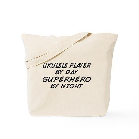 Ukulele Plyr Superhero by Night Tote Bag