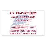 National Dispatchers Week Rectangle Sticker 50 pk