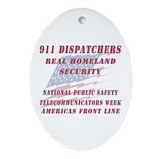 National Dispatchers Week Oval Ornament
