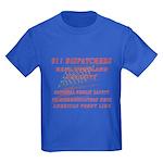 National Dispatchers Week Kids Dark T-Shirt