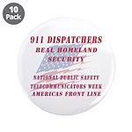 "National Dispatchers Week 3.5"" Button (10 pac"